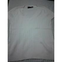 Sweater Manga Corta Zara - Blanco Talla M