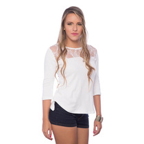 Sueter 2 Cortes Encaje Blanco Elegante Saints Clothes