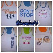 Franelillas Corte Olimpico P/ Dama. Gym.ropa.ejercicios