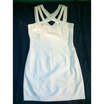Vestido Blanco Casual Marca Mng
