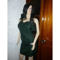 Vestido Corto, Talla S, Color Verde