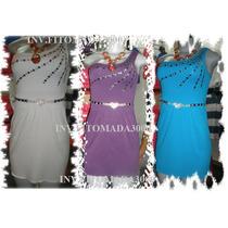 Vestido Corto Unicolor Para Damas,excelente Calidad