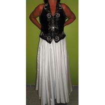 Vestido Formal Dama Blanco/negro.