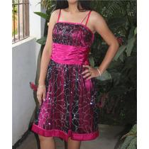 Elegante Vestido De Fiesta Talla M.