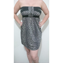 Vestido Tipo Cocktail Estampado Leopardo Talla M