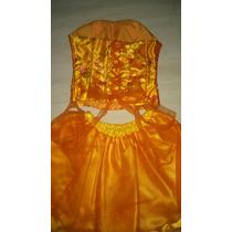Vestido De 15 Años Color Naranja Falda Corta