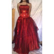 Vestido De 15 Años Rojo Usado 1 Sola Vez
