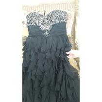 Vestido Negro De Gala Talla Grande