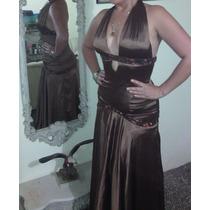Vestido Nuevo Largo Talla 10 M Americano Bsf