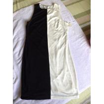 Vestido Blanco Negro. Forever 21. Talla M
