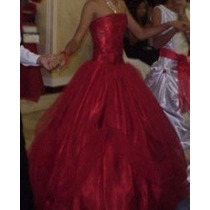 Vestido Rojo De Niña 15 Años O Reina