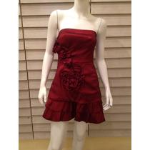 Vestido De Fiesta Vino Tinto (talla L)