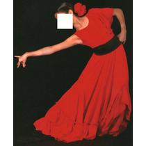Hermoso Traje Disfraz Vestido De Flamenco Talla S