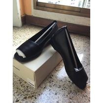 Zapatillas Dama Hush Puppies, Talla 37, Cuero En Color Negro