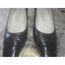 Hermosos Zapatos 2 Dama Piel Negros 39