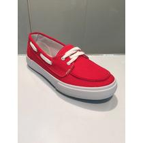 Zapato Rojo Casual De Lona Importados Para Damas Hellas