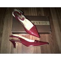 Zapatos Clàsicos, Cómodos Bardo Rojos Y Negros Con Tacón