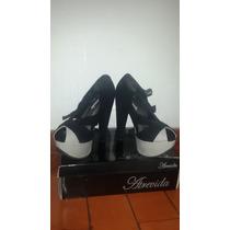 Zapatos Nuevos Negros Casual Vestir Atrevida Tacones