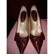 Zapatos Bardo De Cuero. Dama