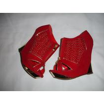 Zapatos Rojos Marca Liliana Nro 38