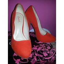 Zapatos Qupid Naranja Talla 37