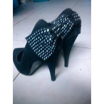 Tacones Color Negro Marca Jepa Fashion