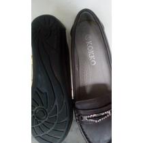 Zapato D Dama Mocasín Color Marron Talla 35 Tipo Escolar New