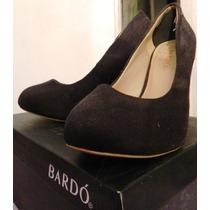 Zapatos De Tacon Bardo Negros Talla 39