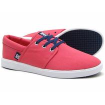 Zapatos Skate Dc Shoes De Dama, Color Coral, Talla 7