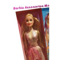 Barbie + Accesorio + Obsequio Muñeca Bebe + Andadera O Coche
