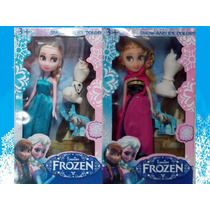 Muñeca Frozen Elsa Y Anna Con Olaf