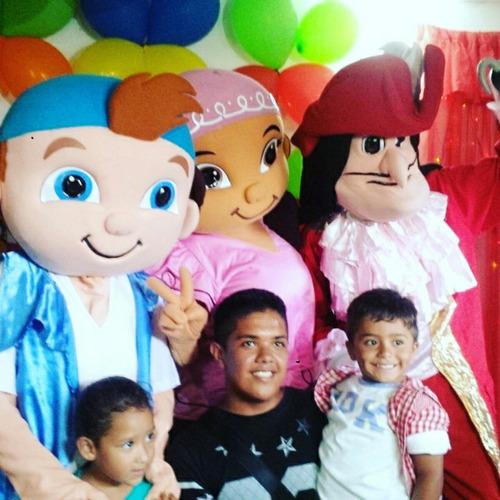 Muñecotes Jake Y Los Piratas Mickey Minions Doky Mario Bros