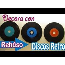 Disco De Acetatos Para Decoraciones (viejos Rayados)