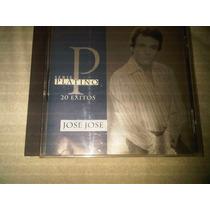 Jose Jose, Serie Platino, 20 Exitos, Cd Original De Coleccio
