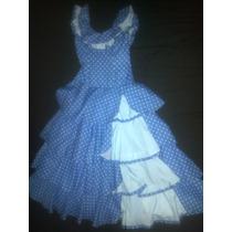Vestido De Falmenco Talla 10-12 Poco Uso