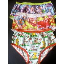 Set De 3 Panties Para Niñas De 2- 4 Años Blumer Algodón