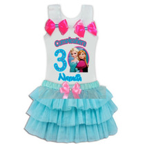 Conjuntos Vestido Tutu Para Niñas Frozen Minnie Peppa Sofia