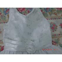 Vestido Blanco C/ Zapatos Para Niñas (usado)