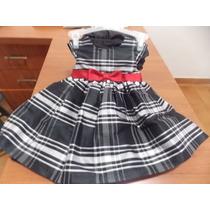 Vestido Niña Negro Y Blanco 6 A 9 Meses