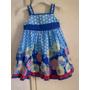 Vestido Azul Con Flores Y Lunares
