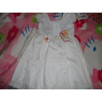 Vestido Niña Nuevo Blanco Ideal Para Bautizo O Fiesta Talla4