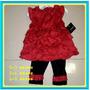 Conjunto Vestido Leggings Para Bebés Niñas