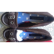 Zapato Niña Tommy Hilfilger Gamuza Color Marron Talla 33 1/2