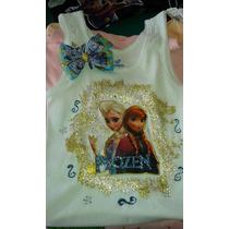 Franelas Decoradas Con Motivos Disney Para Niñas (os)