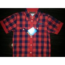 Camisas De Cuadros Manga Corta Niños (envio Gratis)