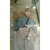 Camisas Colegiales Blanca, Azul Beig Claro, Tela Colombiana