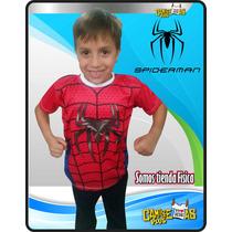 Franelas Spiderman Pepa Mickey Sofia Capitan America
