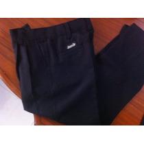 Pantalones Niños Talla 4 A 16 Gabardina Color Negro