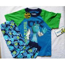 Monster Inc Pijama Pantalon Spiderman Niño Original