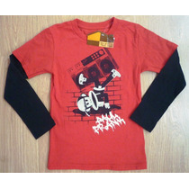 Paul Frank Sweater Manga Larga Franela Import Original